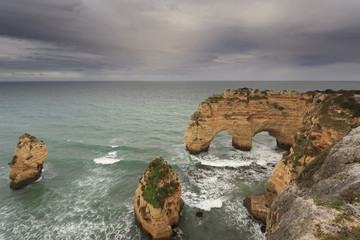 Algarve com a Praia da Marinha