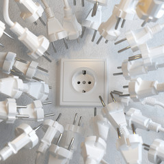 Too Many Electric Plugs are Fighting for Power