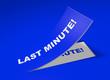 3D Etikett Blau - Last Minute!