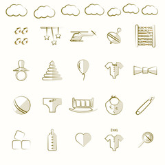 Icons for children toys