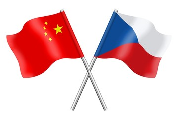 Flags: China and Czech Republic