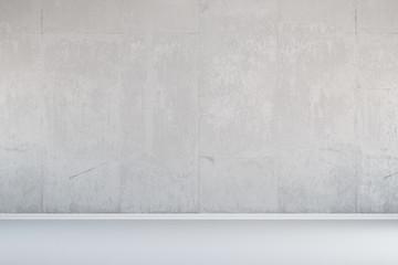 Weiße Wand aus Beton
