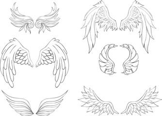 Flügel Lineart Set