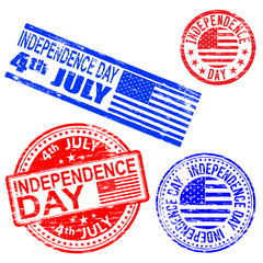 Independence Day Rubber Stamps