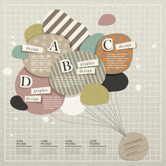 infographic vector elements with collage style