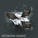 Fototapety vector abstract twinkle gem infographic elements