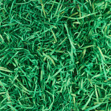 Green ribbons as artificial grass decoration poster