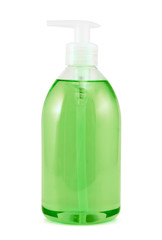 Plastic bottle of liquid soap isolated