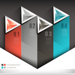 abstract triangle label infographic elements