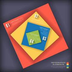 abstract colorful paper infographic elements