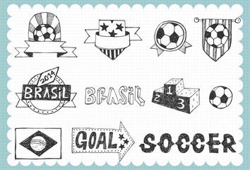 Hand drawn soccer