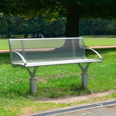 Garden bench in the park