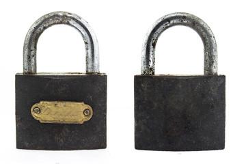 metal padlock on