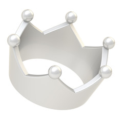 Silver crown isolated