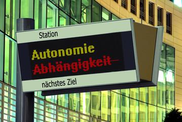 Anzeigetafel 2 - Autonomie