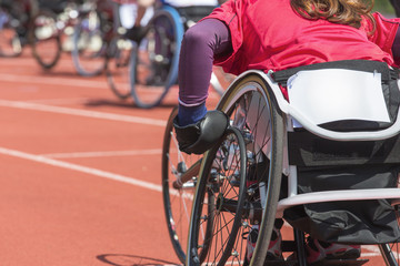 wheelchair athlete stadium