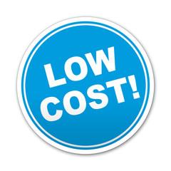 Etiqueta redonda texto LOW COST!