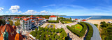 Aerial view of the beautiful architecture of Sopot, Poland. - 64711107