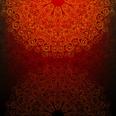 Abstract background with a fantasy pattern in oriental style