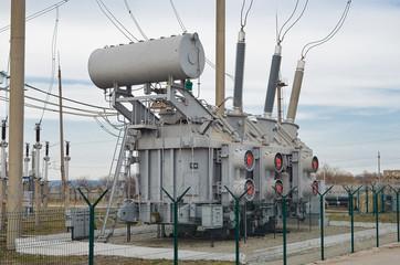 Трансформатор электрического тока на подстанции