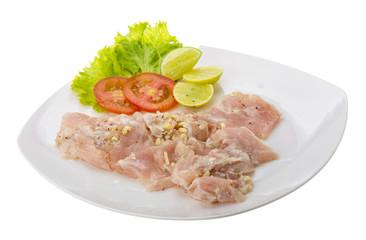 Swordfish carpaccio