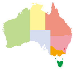 オーストラリアの地図