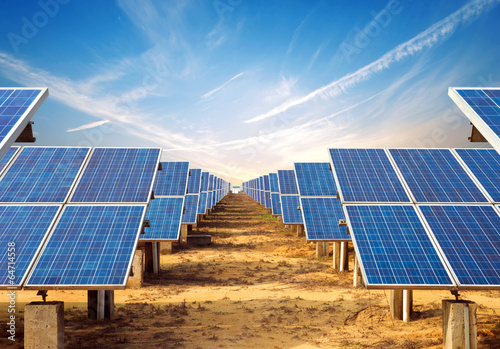Leinwanddruck Bild Solar Panel