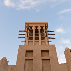 Traditional tower inside the Souk of Madinat Jumeirah. Madinat J