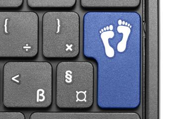 Go away!. Blue hot key on computer keyboard.