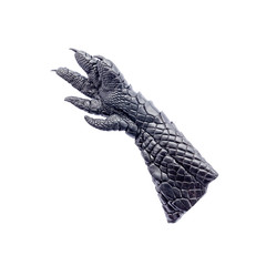 black leather hand crocodile isolated on white