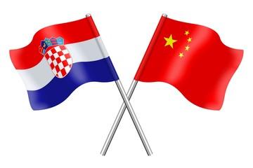 Flags: Croatia and China