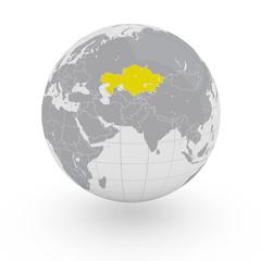 Mappamondo Asia Kazakistan