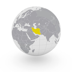 Mappamondo Asia Iran