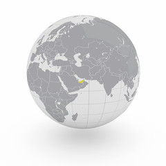 Mappamondo Asia Emirati Arabi Uniti