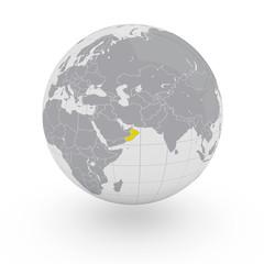 Mappamondo Asia Oman
