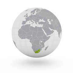 Mappamondo Africa Sudafrica