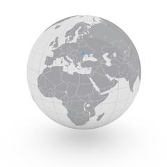 Mappamondo Europa Moldavia