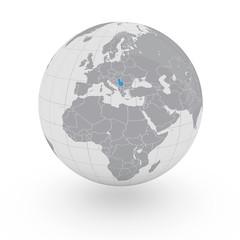 Mappamondo Europa Serbia