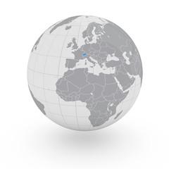 Mappamondo Europa Svizzera