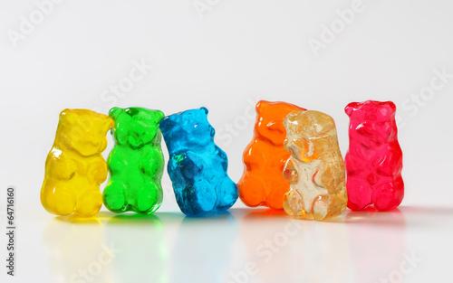Staande foto Snoepjes Gummy bears