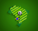 Brazil 2014 World Cup country host presentation poster
