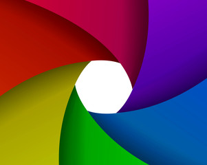 abstract color aperture