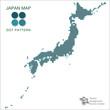 日本地図 #Vector Illustration, Dot Map