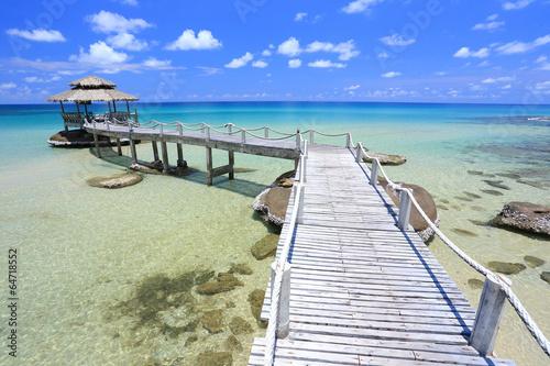 Hut in tropical sea