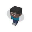block isometric cartoon character