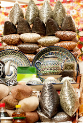 oriental sweets on market.