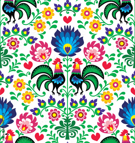 seamless-traditional-floral-polish-pattern-wzory-lowickie