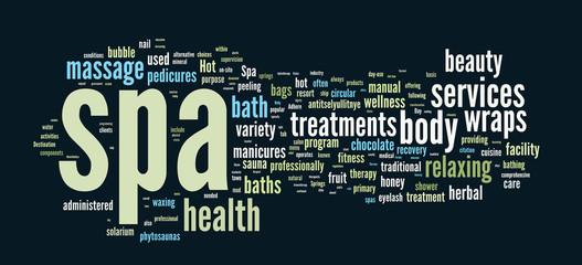 Spa word cloud vector illustration