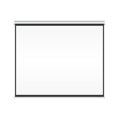 Blank projection screen vector on isolated white background