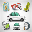Car and accessories vector